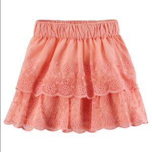*5 for $20 Sale* Peach Layered Lace Skirt